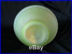 1x Vintage VASELINE SATIN Handpainted Oil Lamp Shade Gay Fad Barbara 12.25 tall