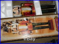 42 Inch Tall Hand Painted Wooden Soilder Nutcracker Christmas Display