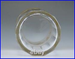 7 Val St Lambert Danse de Flore Gold Crystal Juice/Water Tall Tumbler Glasses