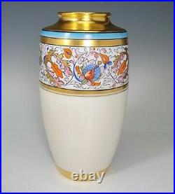 ANTIQUE PICKARD HAND PAINTED PORCELAIN 7 TALL VASE c. 1903