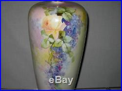 ANTIQUE ROSENTHAL HAND PAINTED VASE 14 in. Tall