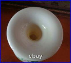 American Belleek Lenox Hand Painted Porcelain Vase, Floral & Gold, Tall 13