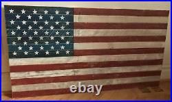American Flag Hanging Wall Art Large 55 Wide X 34 Tall Distressed Handmade