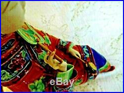 Antique Chinese Porcelain Figurine Lady withLotus Feet Highly Detailed 10 Tall