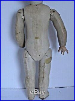Antique Early German Paper Mache Clown Pierrot Doll Hand Painted 16 1/2 tall