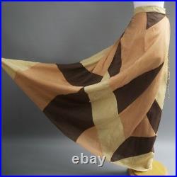 Aristan Hand Made Modern Bohemian Hippie Patchwork Quilt Long Max Skirt L Tall