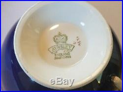 Aynsley Hand Painted Tall Ship china cup and saucer signed D. Jones