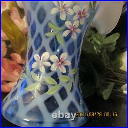 Beautiful Fenton Vase Signed Stands About 9 1/2 Tall
