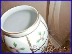 Beautiful Vintage Floral 9 Tall Vase, Hand Painted In Herend, Hungary