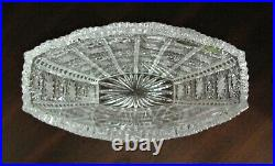 Bohemian Czech Crystal 8 Tall Vase Hand Cut Queen Lace 24% Lead Glass