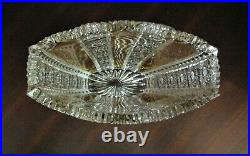 Bohemian Czech Crystal Gold 8 Tall Vase Hand Cut Queen Lace 24% Lead Glass