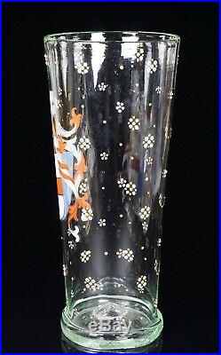 Bohemian Glass Historismus Large Enameled 8 Tall Armorial Beaker