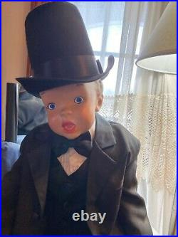 Child Mannequin Vintage 1950s Sitting Boy Toddler 19 Tall Hand Painted Rare