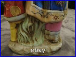 Chinese Asian Lady & Boy Large Figurine Statue 16 Tall Hand Painted Very Rare