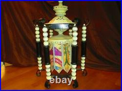 Chinese Pagoda chandelier hand painted beautiful vintage 27 tall
