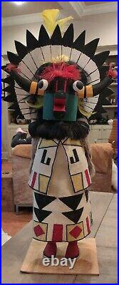 Christmas Zuni Santa Claus, the Shalako Kachina Doll 18 1/4 tall Handpainted