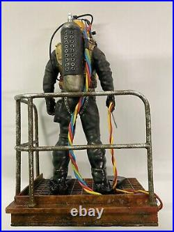 Commercial, Hard Helmet diver Figure 8 Tall Resin Cast Realistic Handpainted
