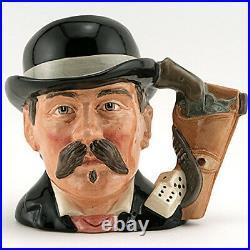 DOC HOLIDAY Royal Doulton Character Jug NEW NEVER SOLD D6731 Medium 5.5 tall