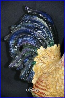 Decorative Figurine Colorful Rooster 16 Tall Handpainted Kitchen Collectible
