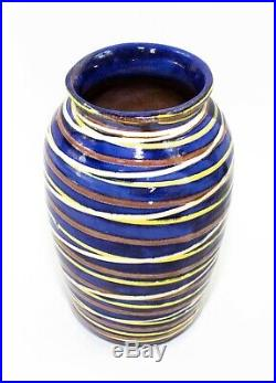 Earthworks Barbados Handmade Hand Painted Vase 10 1/8 Tall
