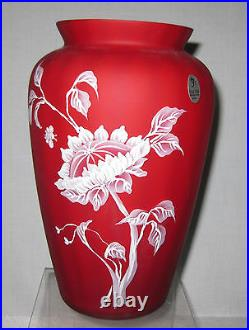 FENTON HAND PAINTED BY SUE JACKSON VASE 9 tall