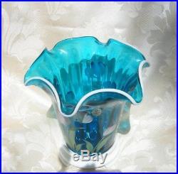 Fenton 2003 heirloom optics collection vase with base 7-1/2 tall No Box