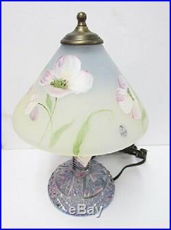 Fenton Accent Lamp 6304HP-PL 12-1/2 Tall HP by PLauderman (Pam) RARE BRAND NEW