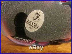 Fenton Cat Plum Dark Purple Excellent Preowned Condition 3 Tall Rare