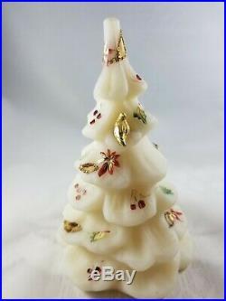 Fenton Christmas Tree White, Hand painting & Dove, 6 tall VERY NICE