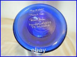 Fenton Cobalt Vase Family Signature 10 3/4 Tall 3240 OL