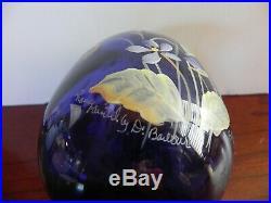 Fenton Egg Hand Painted 5.5 Tall Violets Purple FAGCA 1998