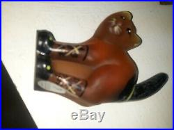 Fenton SCAREDY CAT Hand Painted Signed Halloween Parade About 4.5 Tall