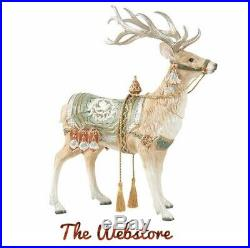 Fitz & Floyd Christmas Deer 17 Tall Statue Hand Painted Holiday Decor