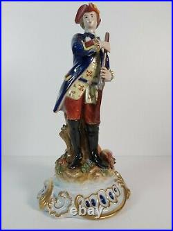 French Hand Painted Sevres Porcelain Figurine, Appr. 29cm Tall