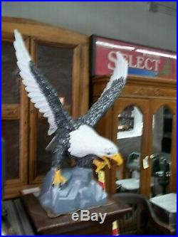 Giant Cast Iron American Bald Eagle Indoor/Outdoor Statue- 45 Tall-Hand Painted