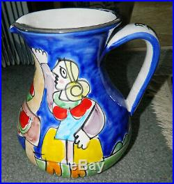 Giovanni Desimone Italy Picasso Pottery Vintage Hand Painted MACYS TALL PITCHER