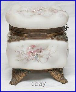 Gorgeous Antique Tall Egg Crate Wave Crest Dresser Box Original Velvet Lining