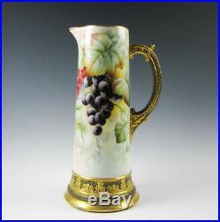 Hand Painted American Belleek Porcelain Tall Tankard Nice