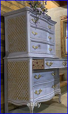 Hand Painted In Chalk Paint Tall French Provincial Dresser