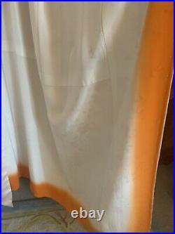 Hand Painted Vintage Silk Kimono With Obijime Belt
