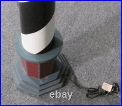 Hand-made & Hand-Painted 48 In Tall Maritime Nautical Lighthouse Floor Lamp