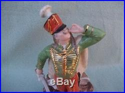 Herend Porcelain Hand Painted Dragon / Griffin Slayer Hussar 5599, 8 1/2 tall