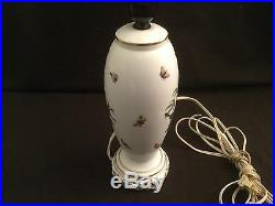 Herend Rothschild Bird Tall Table Lamp with Hand Painted Shade Vintage Original