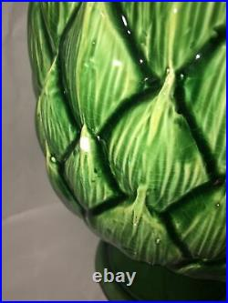 Huge 16 Tall Ceramic ARTICHOKE hand painted RARE By Abigails Italy