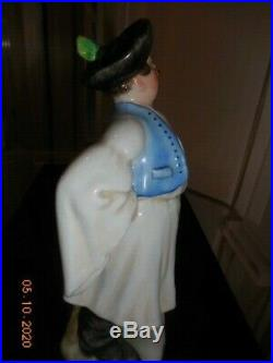 Hungarian Farmer In A Vintage Costume, Hand Painted In Herend, Hungary, 7 Tall