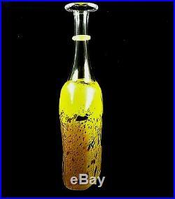 Kosta Boda Satellite Vase Yellow 9 1/2 Tall