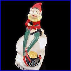 LEPRECHAUN Figurine 4.4tall NEW NEVER SOLD Belleek Made in Ireland Hand Painted