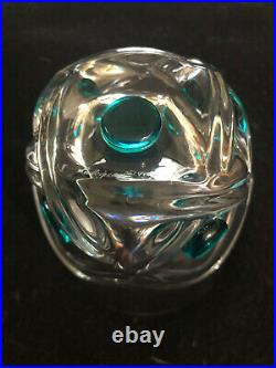 Lalique France Pair of Crystal Floride 4.5 Tall Tumblers
