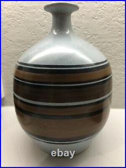 Lapid made in Israel hand-painted vase rare 13 inch tall mid century