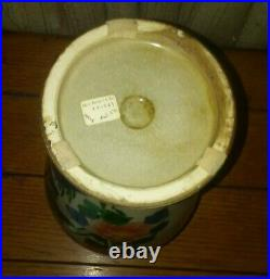 Large Chinese Antique Porcelain Vase Handmade Hand Painted Rare 14.5 Tall Old